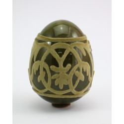 Jajko - ceramika zdobiona welurem