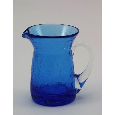 Dzbanuszek - Crackle Glass poł. XXw USA
