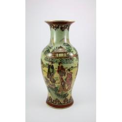 Duży chiński wazon - ręcznie malowany