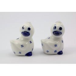 Solniczka i pieprzniczka - ceramika kaczki
