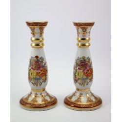Świeczniki ceramiczne malowane 2 szt. Chiny