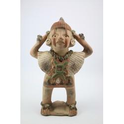 Rzeźba - figurka Azteków - glina wypalana