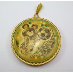 Obrazek ceramiczny Miś - piłka nożna Rosja