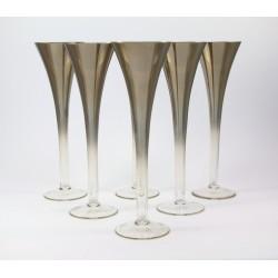 Kieliszki do szampana 6 szt. - szkło dymione