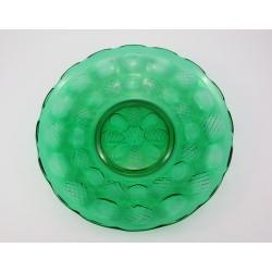 Patera - talerz szkło zielone