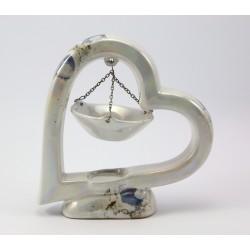 Serce - kominek na olejki zapachowe -ceramika