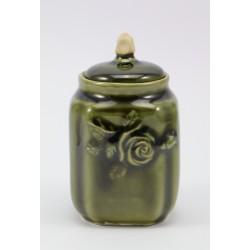 Mały pojemnik - ceramika szkliwiona zielona