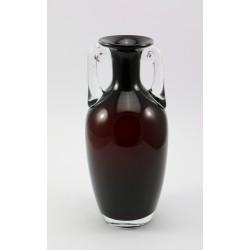 Wazon - rubinowe szkło rwane - Huta Tarnowiec