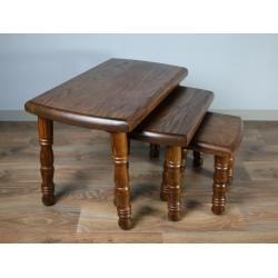 Trojaki - komplet trzech stolików