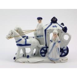Figurka porcelanowa - kareta