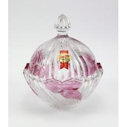 Kryształowa bomboniera dwubarwna - Huta Anna