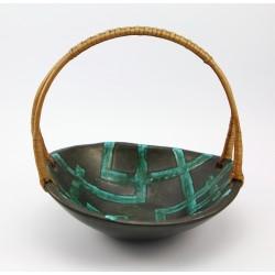 Duża ceramiczna patera z uchwytem - hand made