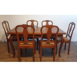 Stół ludwikowski i krzesła komplet