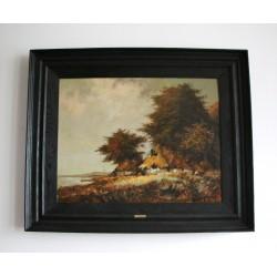 Obraz olejny na płycie - R. Porębski