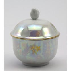 Cukiernica porcelanowa z pokrywką
