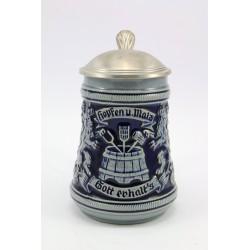Kufel ceramiczny z cynową klapką