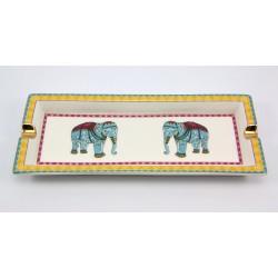 Prostokątna popielniczka - indyjskie słonie