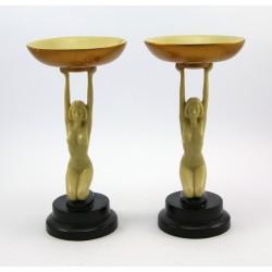 Para świeczników figuralnych - sygn. O.Tupton