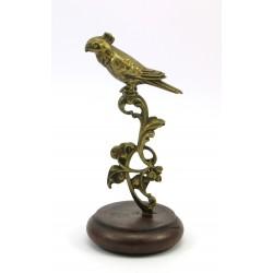 Figurka z mosiądzu - papuga