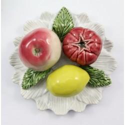 Obrazek ceramiczny owoce - plakieta ozdobna