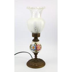 Lampka nocna - ceramika i mosiądz