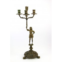 Duży figuralny świecznik - kandelabr