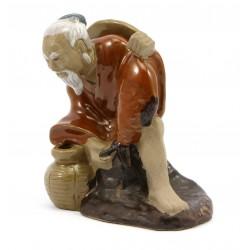 Figurka ceramiczna - Chińczyk - rybak