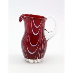 Dzbanuszek - mlecznik - szkło rubinowe