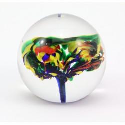 Przycisk do papieru - szklana mała kula