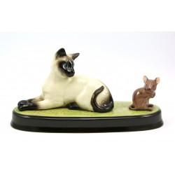 Figurka kot syjamski i mysz - Beswick England