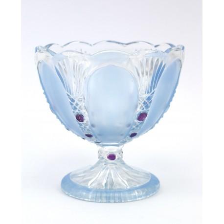 Pucharek - cukiernica - szkło błękitne
