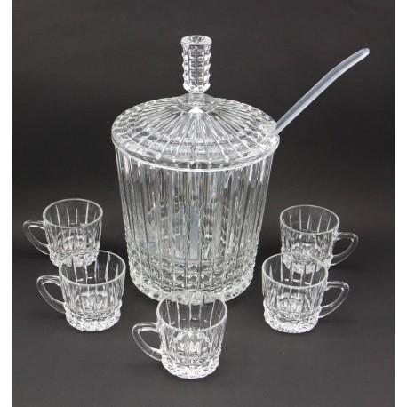 Serwis - bola kryształowa i 5 szklanek