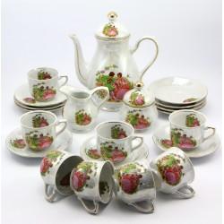 Serwis porcelanowy do kawy dla 8 osób