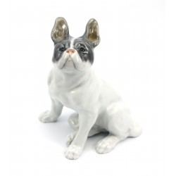 Figurka pies buldog francuski - Royal Copenhagen