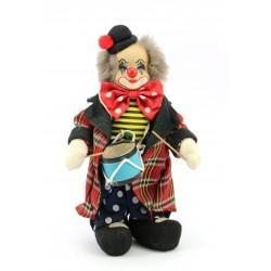 Figurka - klaun grający na bębenku