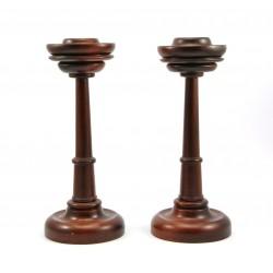Świecznik drewniany - 2 sztuki