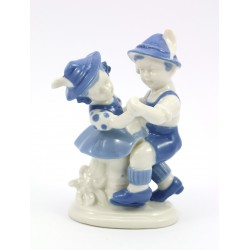 Figurka porcelanowa - para bawarska