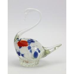 Łabędź figurka - szkło artystyczne