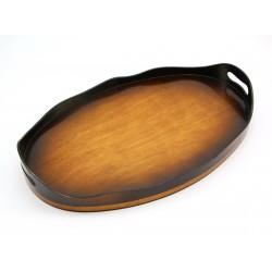 Taca drewniana owalna z uchwytami