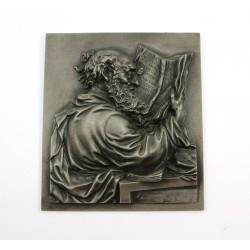 Płaskorzeźba żeliwna - obraz sygn. Buderus