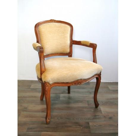 Fotel ludwikowski tapicerowany