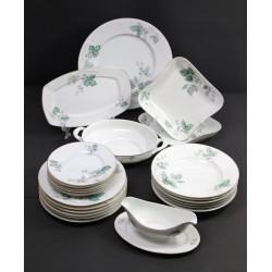 Serwis obiadowy OHME - Szczawienko, Manufaktura Herman Ohme lata 30te XX wieku - 24 elem.